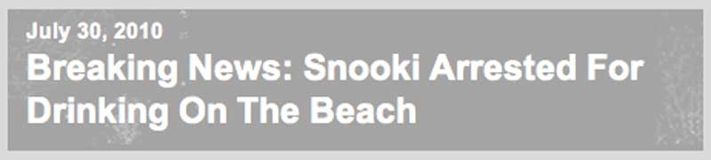 Breaking News: Snooki Arrested For Drinking On The Beach