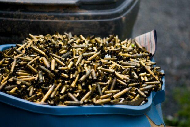 Bucket Of Gun Bullets