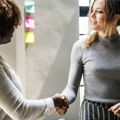 Women Business Handshake