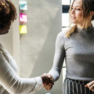 Women Business Handshake