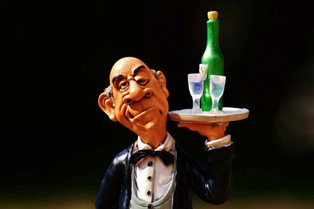 Minted Methodshop Butler Tray Beverages Wine Champagne Restaurant