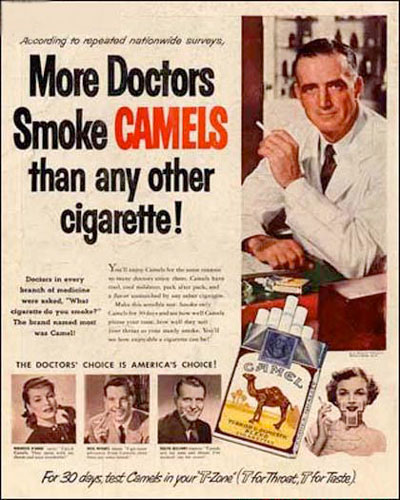 More Dead Doctors Smoke Camels Than Any Other Cigarette!