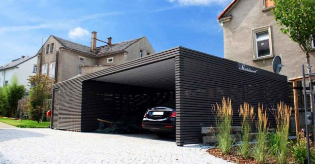 A Carport In A Home's Driveway - Protect Your Car From Severe Weather