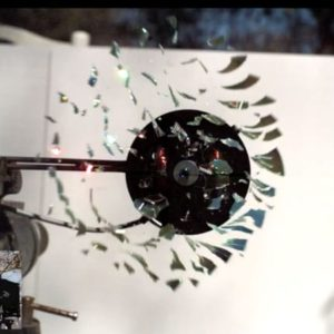 VIDEO: CD Shattered By Rotational Speed, Filmed At 170,000fps
