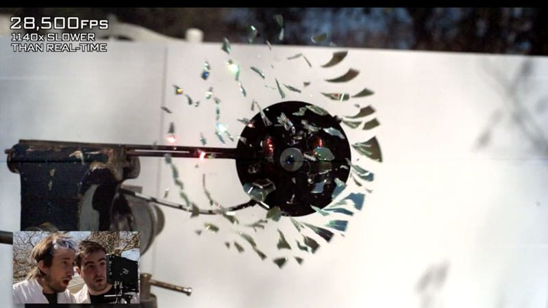 CD Shattered in Extreme Slow Motion