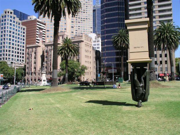 Charles La Trobe Upside Down Statue