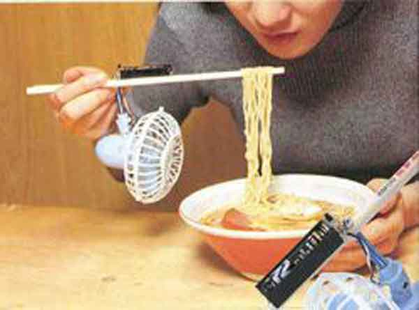 Chindogu Inventions: Noodle Fan