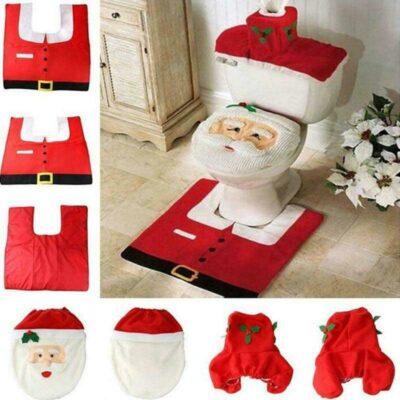 Christmas Toilet Seat Cover Set