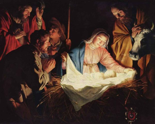 The Birth Of Jesus - Religious Christmas Card Messages