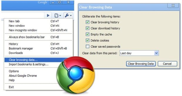 Chrome: Clear Web Browsing History