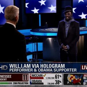 CNN Gets Wacky on Election Night with Hologram Reporters (2008)