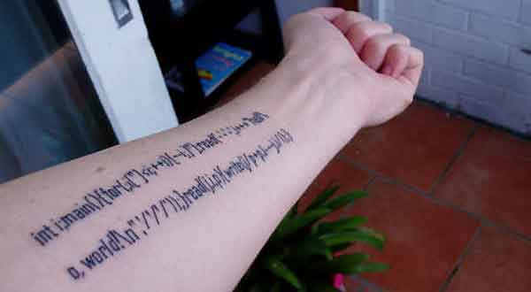 Geeky Tattoo Ideas: C++ Code