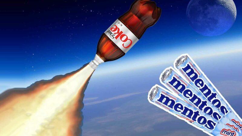 Coke And Mentos Rocket