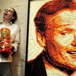 Artist Uses Cheetos To Create a Unique Portrait Of Conan O'Brien