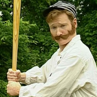 Conan O'Brien Plays 1860s Old Timey Baseball