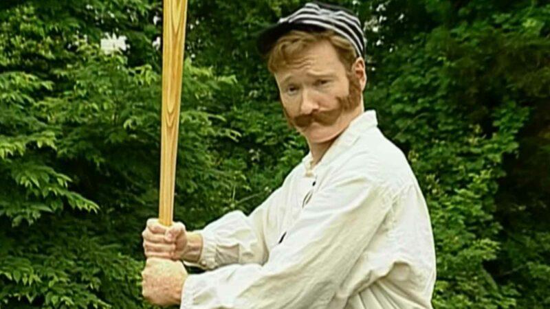 Conan O'Brien Plays 1860s Old Timey Baseball