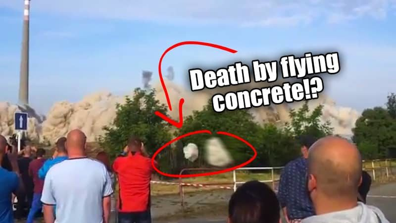 Building Demolition: Death by Flying Concrete