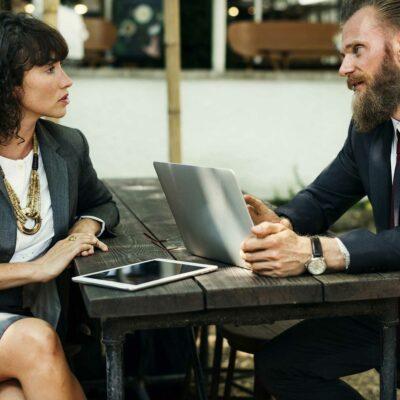 Corporate job interview