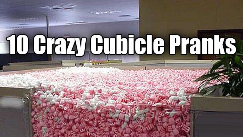 10 crazy cubicle pranks pics