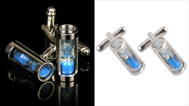 Blue Hourglass Men's Cufflinks