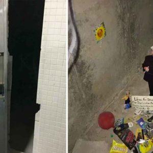 Secret Danny DeVito Shrine Discovered In A SUNY College Bathroom