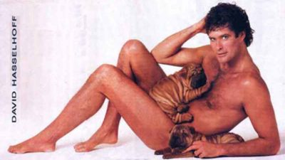 David Hasselhoff Naked With Dogs