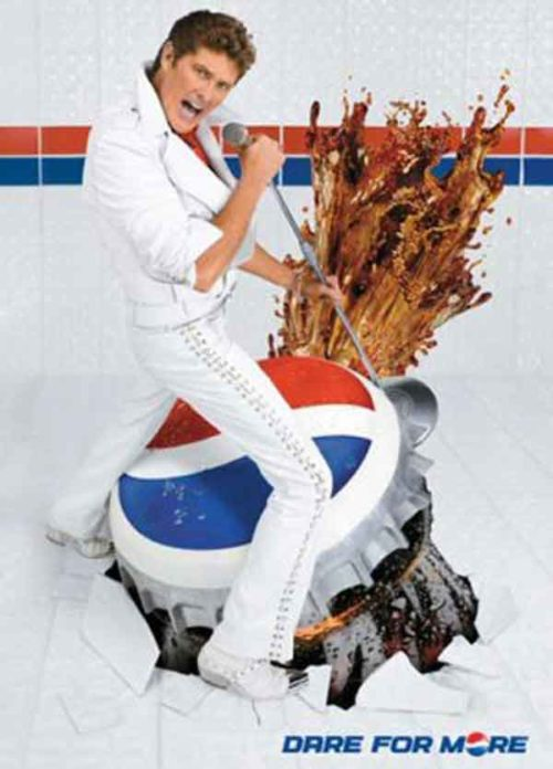 Embarrassing David Hasselhoff Photos: Pepsi Explosion