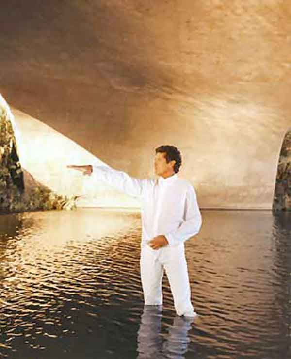 Embarrassing David Hasselhoff Photos: Standing In A Lake