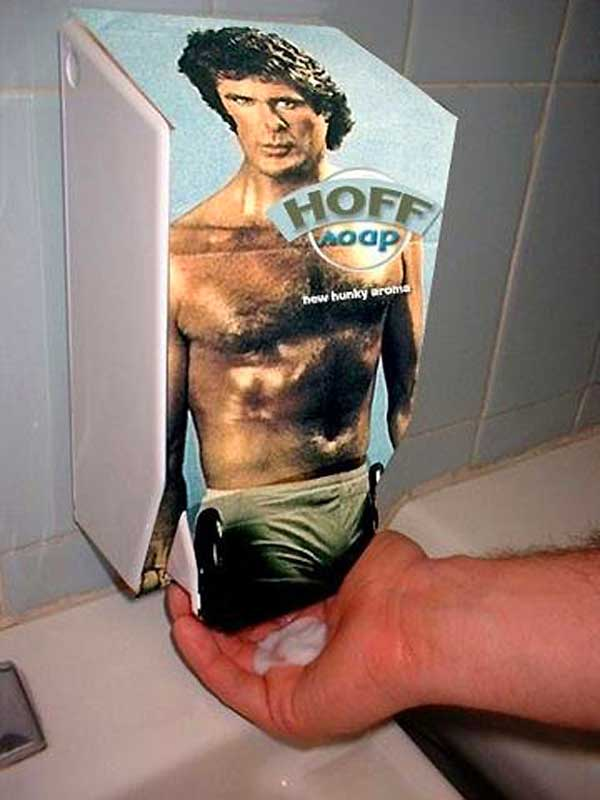 David Hasselhoff Photos: Soap Pump