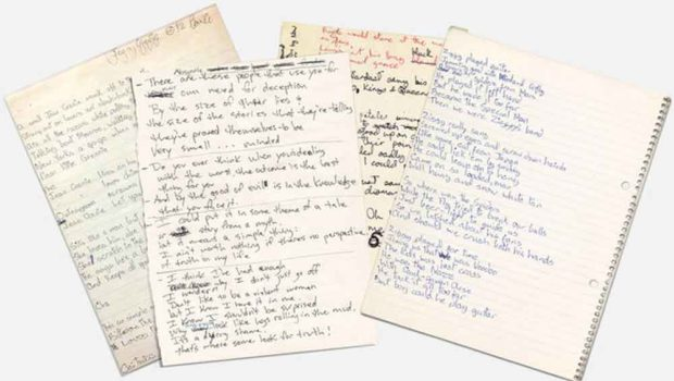 David Bowie Handwriting