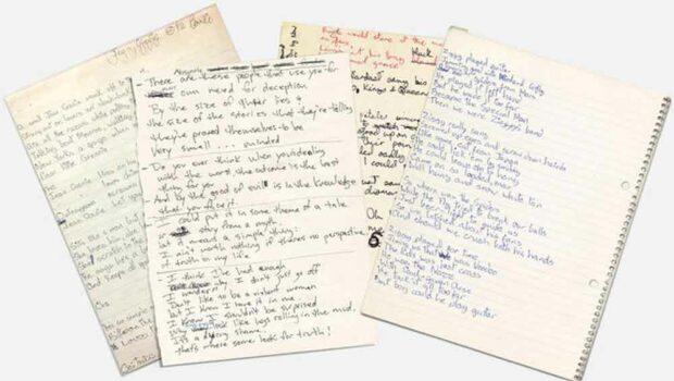 David Bowie Handwriting