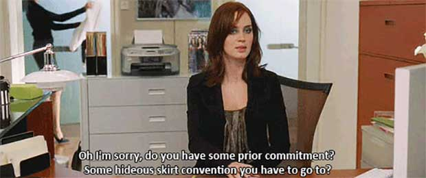Hideous Skirt Convention - The Devil Wears Prada Quotes - Quotes From The Movie The Devil Wears Prada