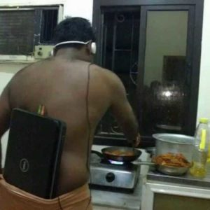 Insane DIY iPod: Guy Stuffs Laptop In Pants And Connects Headphones