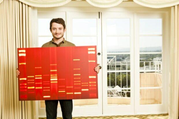 Actor Elijah Wood with DNA Portrait
