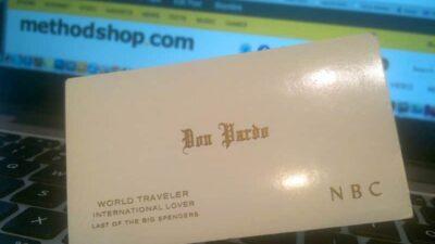 Don Pardo's Business Card