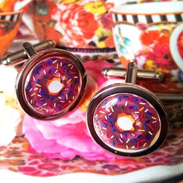 Donut Cufflinks - Fun Donut Gifts