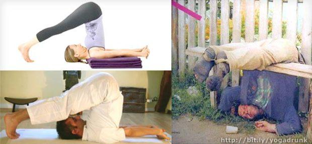 Halasana: Drunk Yoga