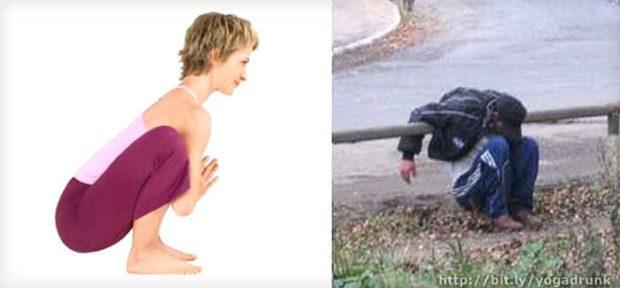 Malasana: Drunk Yoga