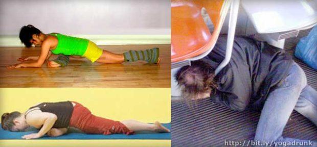 Laying Pigeon Pose: Drunk Yoga