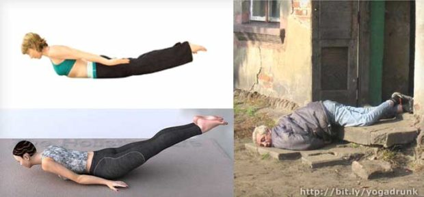 Salambhasana: Drunk Yoga