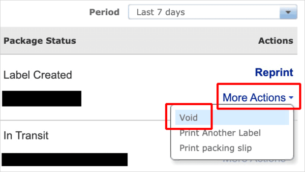 Void eBay Shipping Label