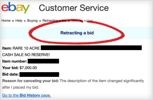 Select A Reason Why You Want To Cancel Your Ebay Bid.