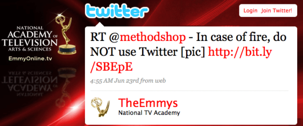 Emmys Retweet