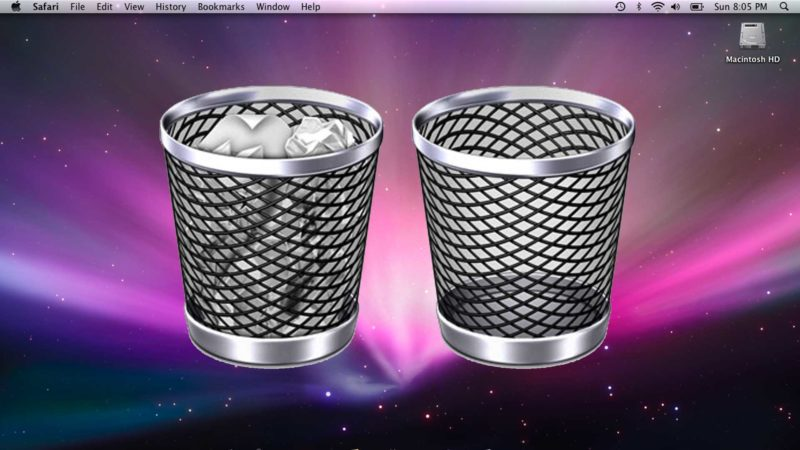 Empty Trash Mac OS X