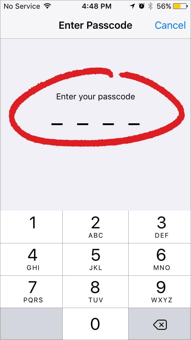 Ios Passcode