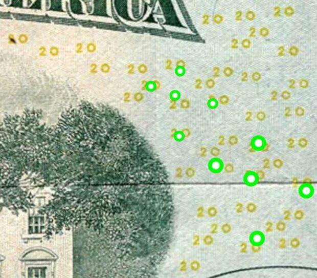EURion Constellation Anti-Counterfeiting Patterns