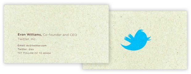 Ev Williams Business Card- - Famous Ceo Business Cards