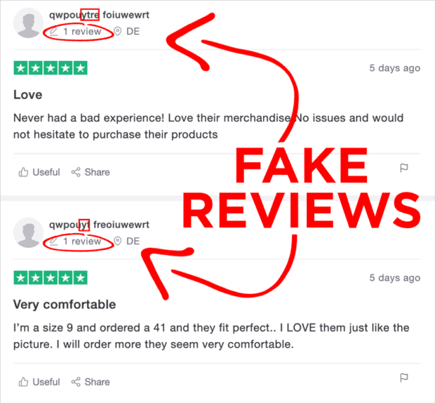 Examples Of Fake Lokeea Reviews From Customers With Positive Experiences