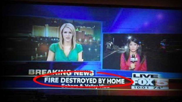 Funny Mistake By Graphic Designer At FOX News Says A House Destroyed A Fire
