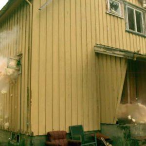Expanding Foam Explosion Destroys Norwegian House On TV
